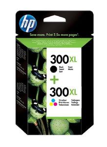 HP 300XL High Capacity Multipack Black & Tri-Colour Ink Cartridge, CC641EE, CC644EE