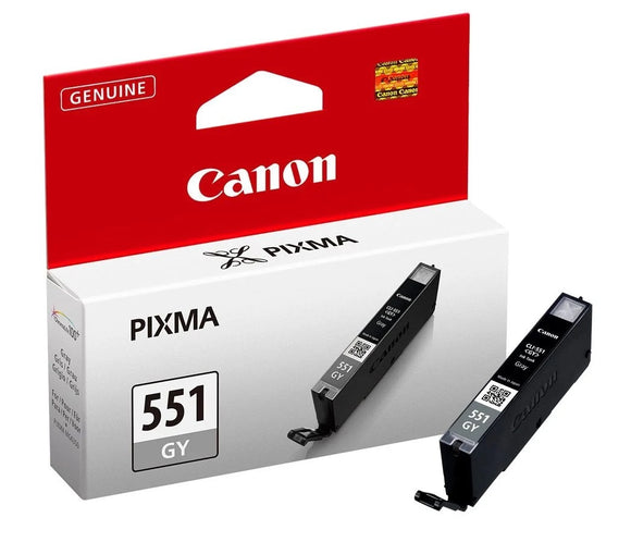 Genuine Canon 551GY, Grey Ink jet Printer Cartridge, CLI-551GY, 6512B001