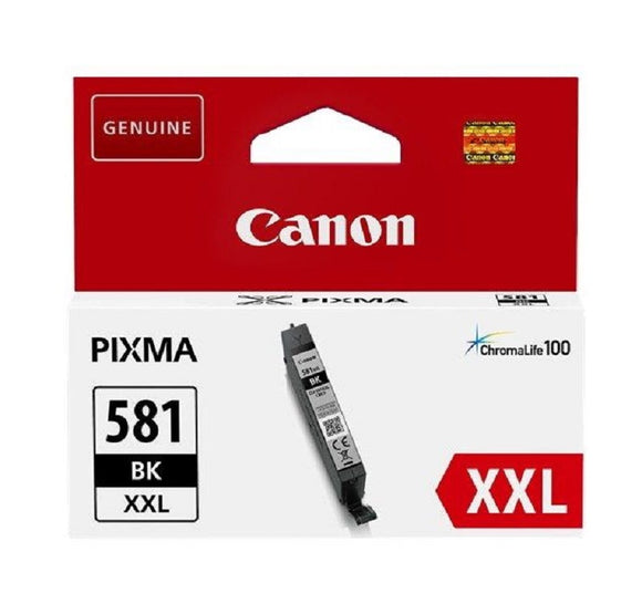 Genuine Canon 581XXL, Extra High Capacity Black Ink Cartridge, CLI-581BKXXL, 1998C001