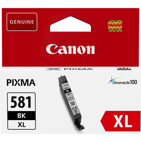 Genuine Canon 581XL, High Capacity Black Ink Cartridge, CLI-581BKXL, 2052C001