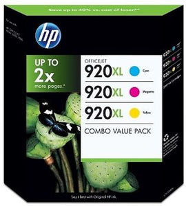 Genuine HP 920XL High Capacity Tripple Pack Ink jet Print Cartridge, CN700BN