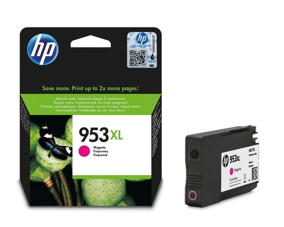 Genuine HP 953XL High Capacity Magenta Ink Cartridge, F6U17, F6U17AE