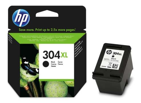 Genuine HP 304XL, High Capacity Black Ink Cartridge, N9K08, N9K08AE
