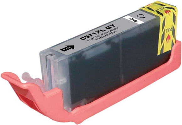 1 Compatible Grey Ink Cartridge, Replaces For Canon CLI571, CLI571GYXL, CLI-571XLGY, NON-OEM