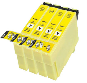 4 Compatible Yellow Ink jet Printer Cartridges, Replaces For Epson T1294, T129440 NON-OEM
