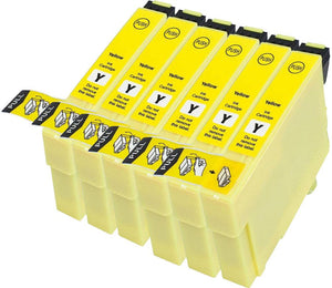 6 Compatible Yellow Ink jet Printer Cartridges, Replaces For Epson T1294, T129440 NON-OEM