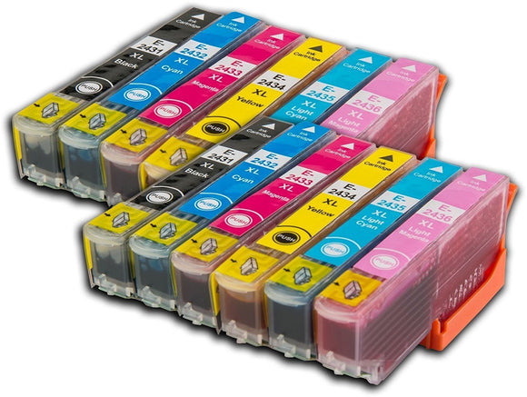 12 Compatible Multipack Ink Cartridges Replaces For Epson 24XL, T2438, T243840, NON-OEM