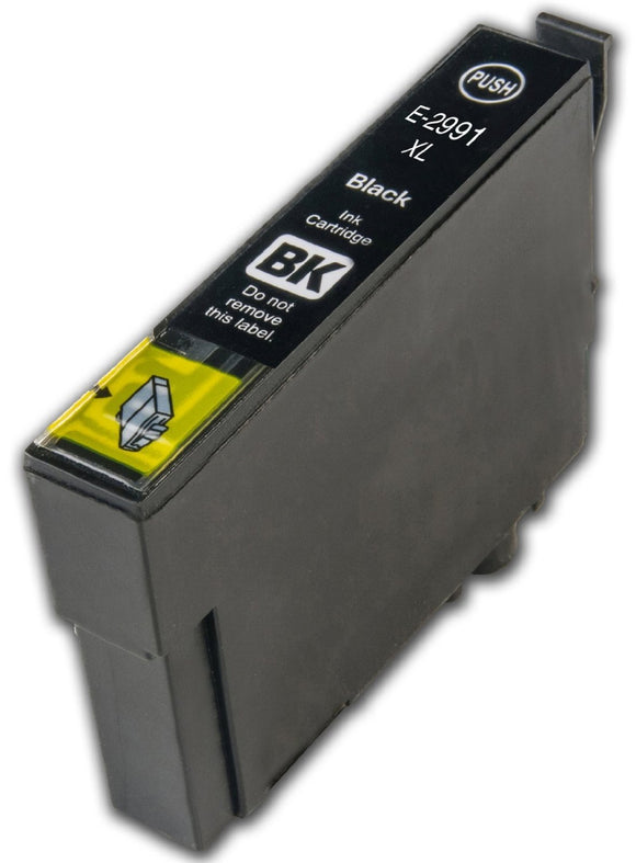 1 Compatible 29 XL, Black Ink Cartridges, Replaces Replaces For Epson 29XL, T2991, NON-OEM