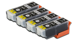 4 Compatible High Capacity Black Ink Cartridges, Replaces For Epson 33XL, T3351, NON-OEM