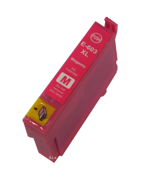 1 Compatible High Capacity Magenta Ink Cartridge, Replaces For Epson 603XL, T03A3, NON-OEM