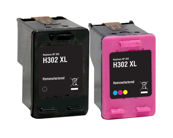 Compatible Multipack Black & Tri-Colour Ink Cartridge, HP 302XL, F6U67AE & F6U68AE