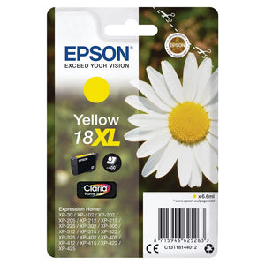Genuine Epson 18XL Daisy Claria Home Yellow Ink jet Print Cartridge, T1814, T181440