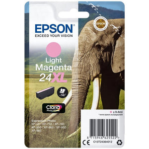 Epson 24XL, Elephant Claria Light Magenta HD Ink Cartridge, T2436, C13T24364012