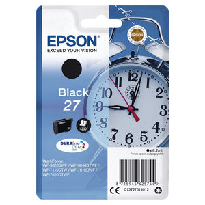 Genuine Epson 27, Alarm Clock Black Ink jet Printer Cartridge, T2701, T270140