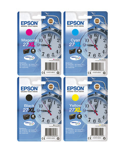 Genuine Epson 27XL Alarm Clock Multipack Ink jet Print Cartridges T2711, T2715