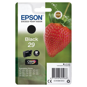 Genuine Epson 29, Strawberry Claria Home Black Ink Cartridge, T2981, T298140