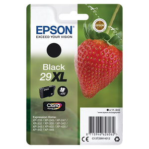 Genuine Epson 29XL, Strawberry Claria Home Black Ink Cartridge, T2991, T299140