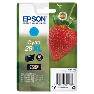 Epson 29XL, Strawberry Claria Home Cyan Ink jet Print Cartridge, T2992, T299240