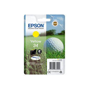 Genuine Epson 34, Golf Ball Yellow Ink jet Printer Cartridge, T3464, C13T34644012