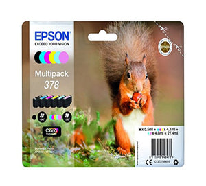 Genuine Epson 378, Multipack Ink jet Printer Cartridges, T3784, C13T37884010