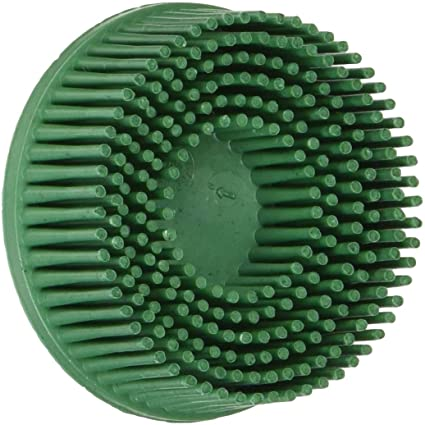 3M 07524 – Scotch-Brite Roloc Bristle Disc, 2 inch  Green 50 Grit