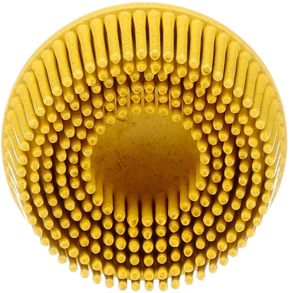 3M 07525 – Scotch-Brite Roloc Bristle Disc, 2 inch  Yellow 80 grit