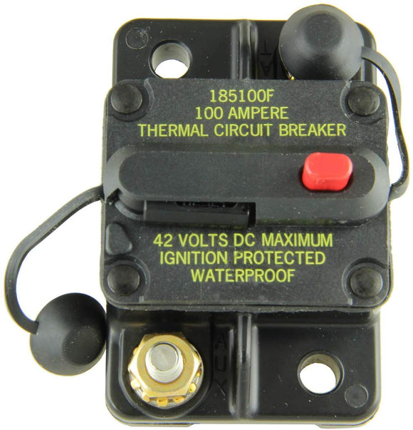 BUSSMAN CB185100F 100 AMP TYPE III MANUAL RESET CIRCUIT BREAKERS