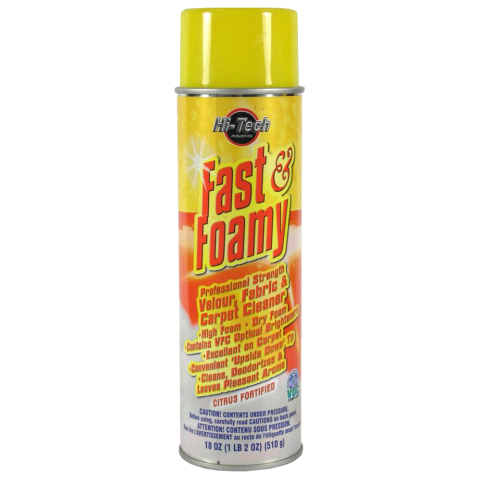 Hi-Tech Fast & Foamy Velour, Fabric & Carpet Cleaner 510g Aerosol