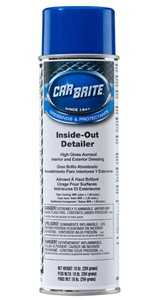 Car Brite Inside-Outside Detailer High Gloss Aerosol Dressing 10oz