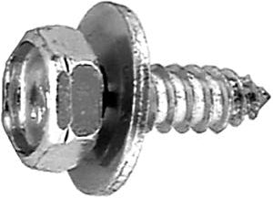 "Hex Head Loose Washer Tapping Screw 1/4"" x 1"" 11/16"" Washer Diameter"