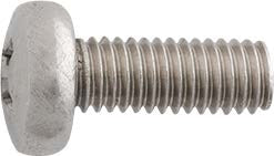 License Plate Attaching Screw Phillips Head 6-1.0 x 16mm Zinc
