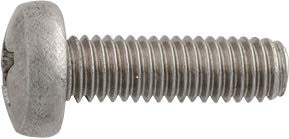 License Plate Attaching Screw Phillips Head 6-1.0 x 20mm Stainless Steel