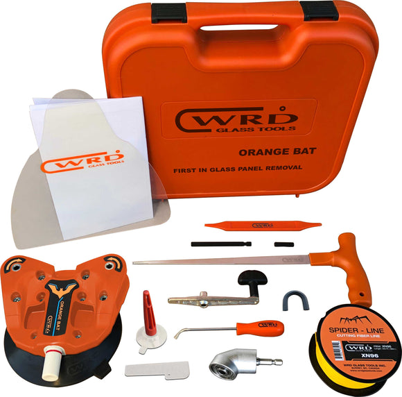 WRD Orange Bat - Kit -300W Glass Removal Tool Kit ((New Dual Spindle Design) With Angle Driver