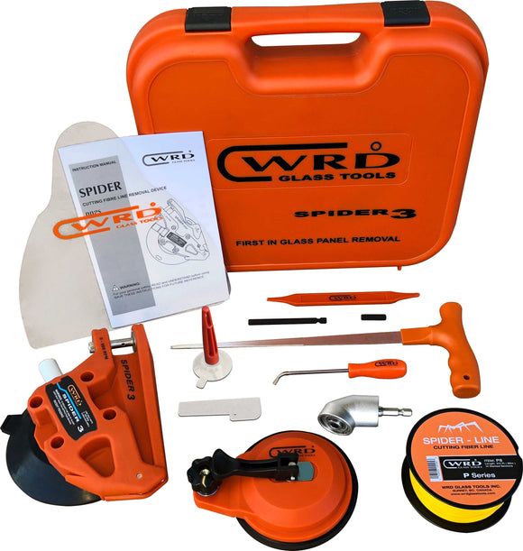 WRD Spider 3 Kit 300W Auto Glass Removal Tool Kit With Angle Driver