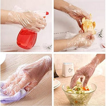 Load image into Gallery viewer, 100 pcs Disposable Plastic Gloves, In Stock