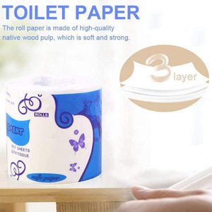 10 Rolls - Ultra Soft 3-ply Toilet Paper (Eco-Friendly)