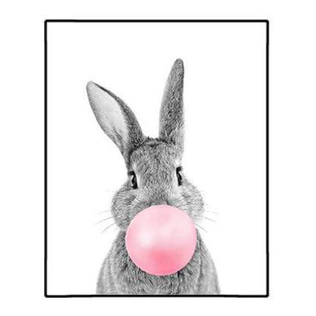 Tableau lapin chewing-gum