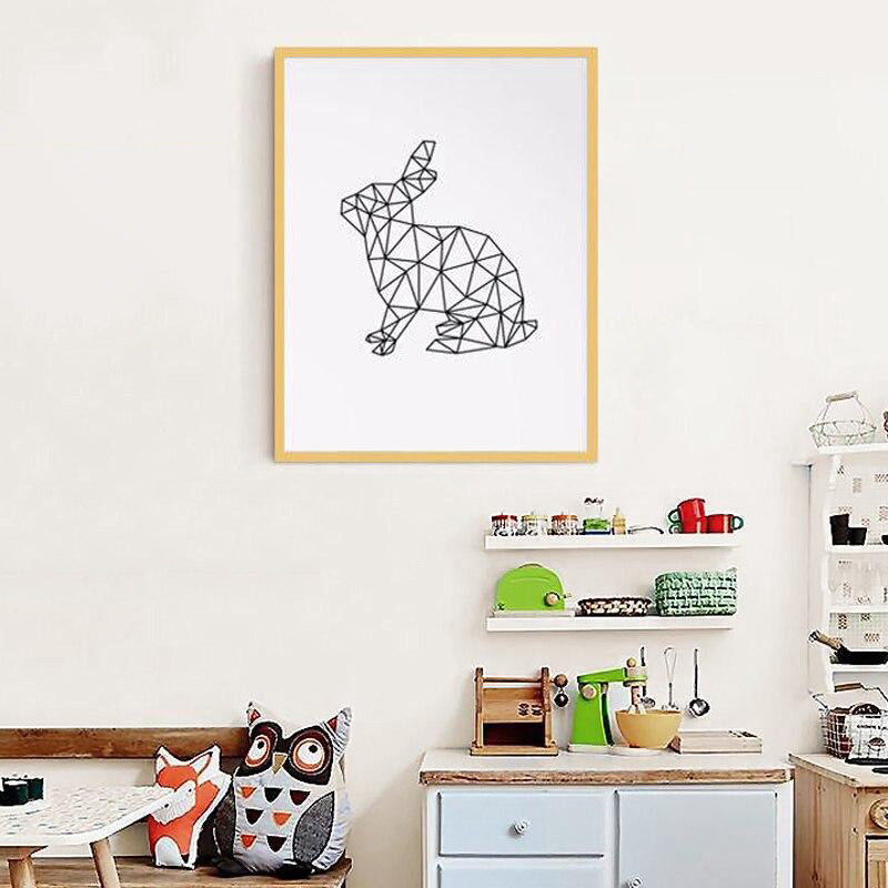 Tableau lapin moderne