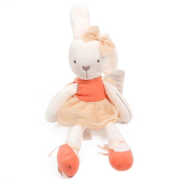 Doudou lapin coloré orange