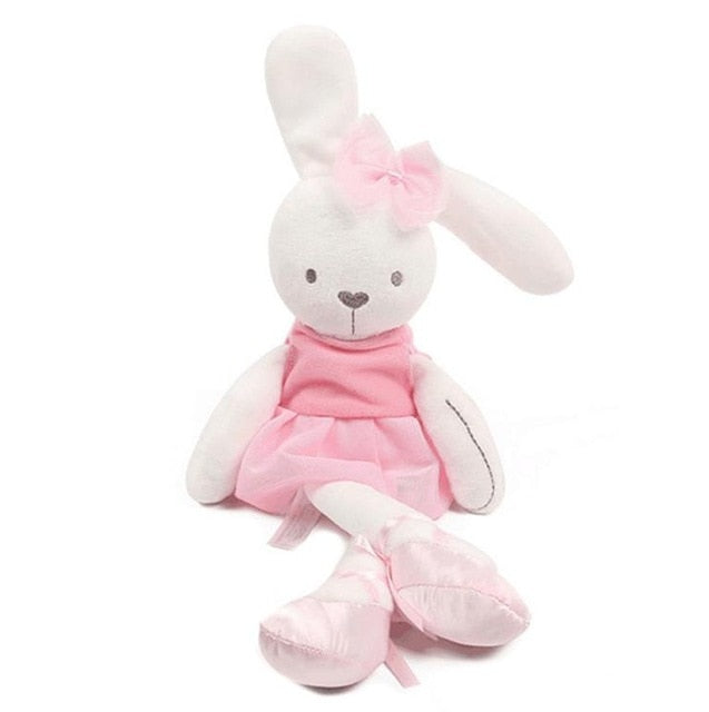 Doudou lapin coloré rose
