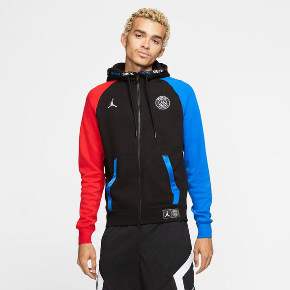 Paris Saint-Germain Black Cat Full-Zip Fleece Hoodie