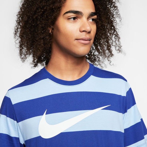 Men's Striped Nike Sportswear Swoosh T-Shirt