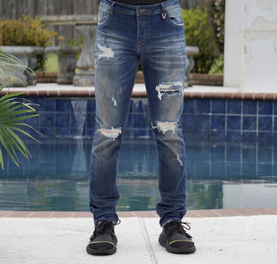 """V36"" Dirty Wash Valabasas Jeans"