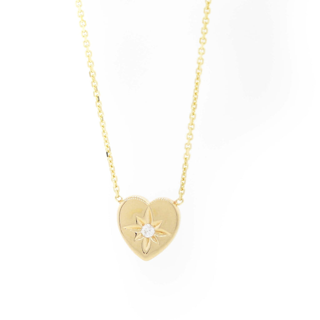 Petite Heart Starburst Necklace
