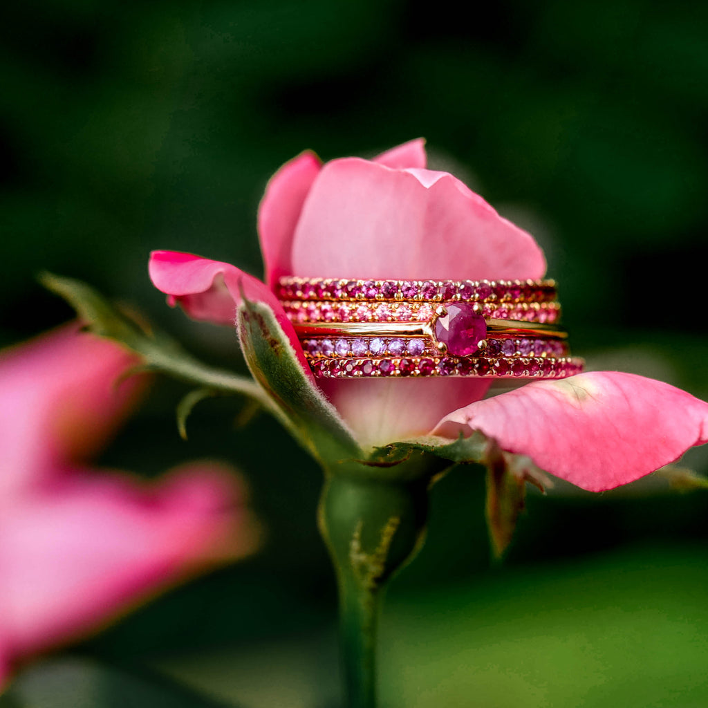 Sapphire Eternity Band - Pink