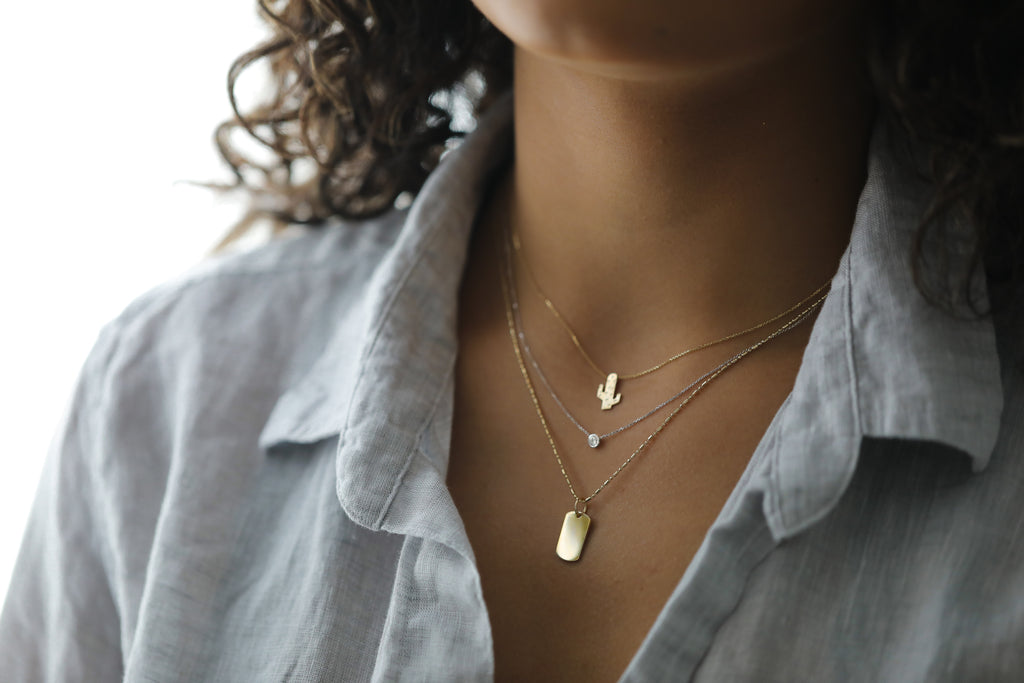 Cactus Necklace - Gold