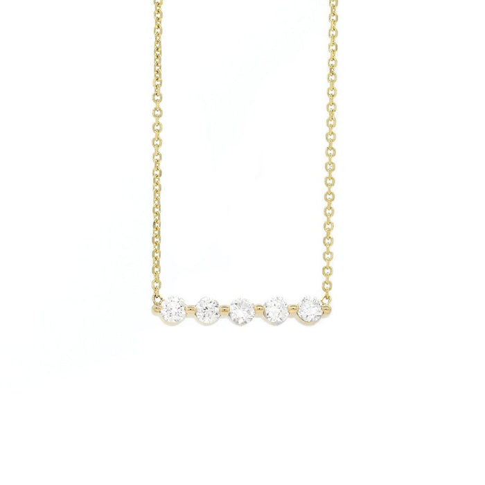 Five Diamond Row Necklace