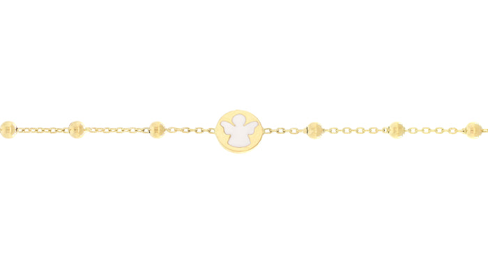 Gold Enamel Angel Bracelet