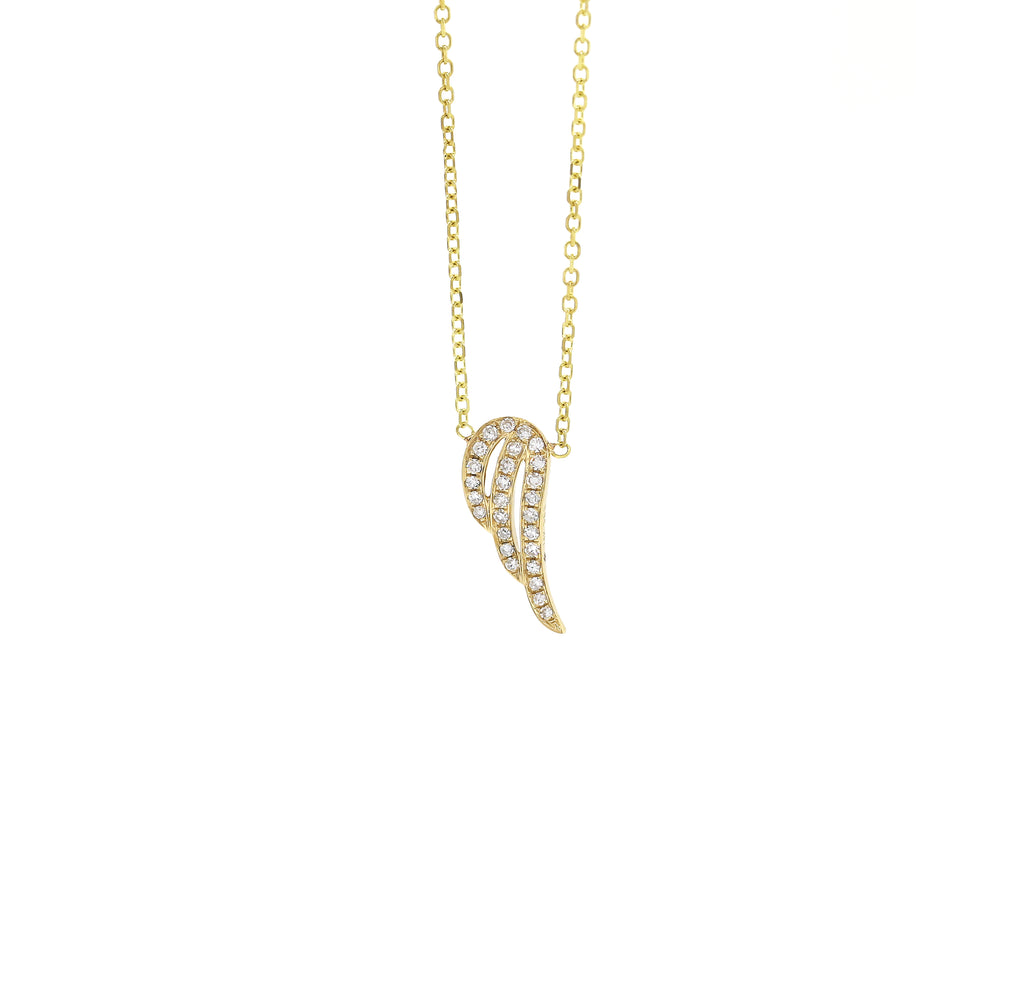 Angel Wing Diamond Necklace
