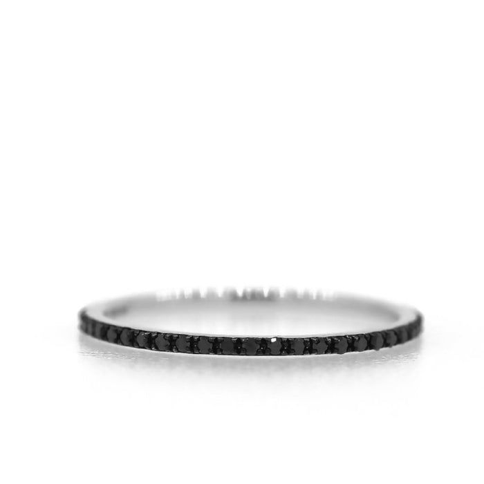 Diamond Eternity Band - Black Diamond Rhodium